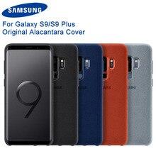 מקורי Samsung אלקנטרה אופנה טלפון מקרה כיסוי Fundas Coque 4 צבע עבור Samsung Galaxy S9 G9600 S9 + S9 בתוספת g9650