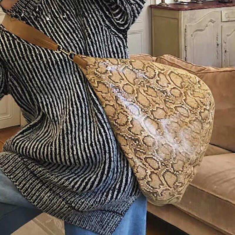 Designer de luxe motif serpent femmes sacs à main en cuir grande capacité sac à bandoulière dames sac à bandoulière pour les femmes voyage sac fourre-tout