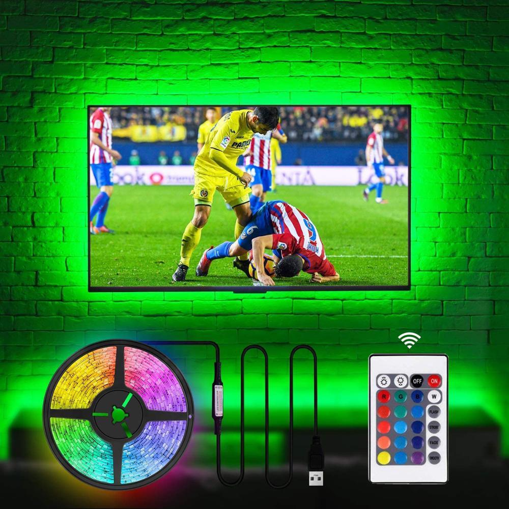 5V USB Cable LED Strip Light RGB 5050 LED TV Background Backlight SMD Flexible Ribbon Tape Stripe Lamp 1M 2m 3m 4m 5m
