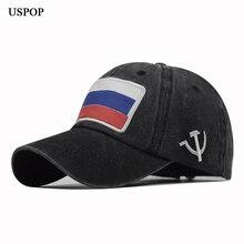 USPOP 2019 New Russian flag patch baseball caps women men cotton hat unisex washable adjustable visor