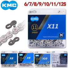 KMC Bike Chain X11 X10 X9 X8 Bicycle 116/118 Links MTB Cassette Cycling Fits Shimano SRAM 8 9 10 11s Derailleur