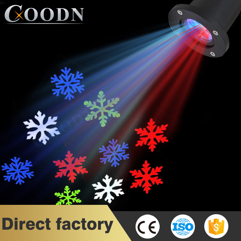 DJ Lights Led Sparkling Projection Light Outdoor LED Christmas Lights Quad Projector Christmas Star With Snowfall