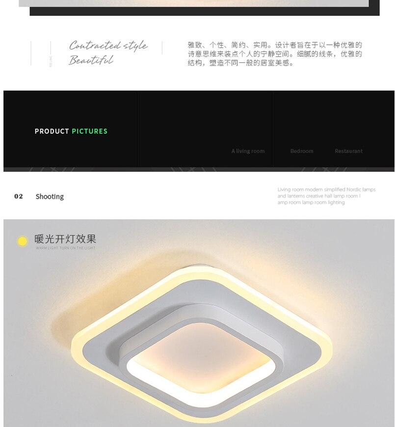H5233d032cd664b06aa71b1bb68e70661b LICAN Modern LED Ceiling Lights for bedroom bedside Aisle corridor balcony Entrance Modern LED Ceiling Lamp for home