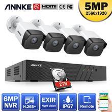 ANNKE 5MP H.265 + Siêu HD PoE Mạng Video An Ninh Hệ Thống 4 Chống Nước Ngoài Trời POE IP Cắm & chơi PoE Bộ