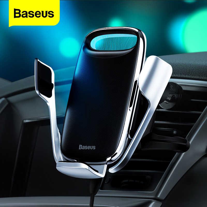 Baseus حامل هاتف السيارة آيفون 11 برو ماكس 15 واط تشى شاحن لاسلكي ل شاومي Redmi نوت 8 برو حامل شحن لاسلكي سريع