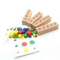 아이들을위한 나무 몬테소리 장난감 조기 교육 몬테소리 수학 장난감 Knobbed Cylinder Montessori Materials UA2764H