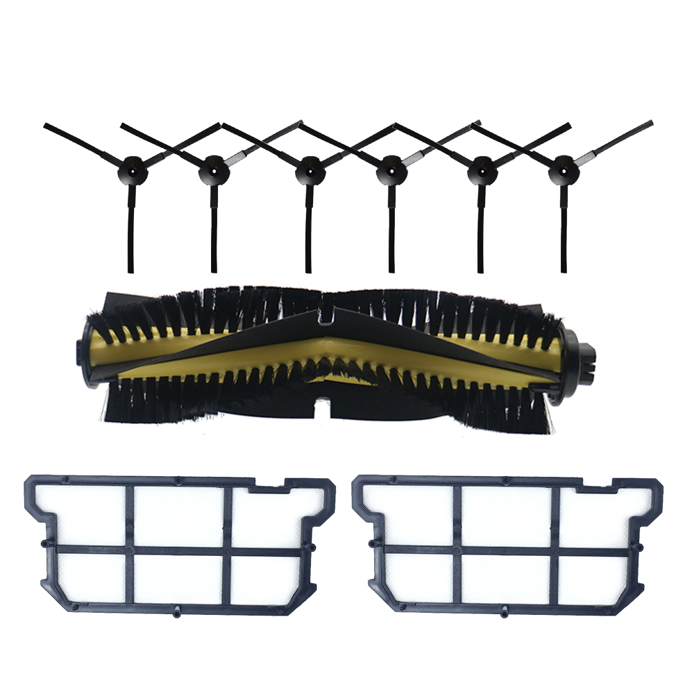 For Ilife V7s V7 V7s Pro Robot Vacuum Cleaner Parts Kit Main Brush+Side Brush+Hepa Filter For Chuwi ILIFE V7s Pro Accessories