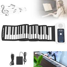 купить 88 Keys USB MIDI Roll Up Piano Electronic Portable Silicone Flexible Keyboard Organ Built-in Speaker Electronic Organ Hot в интернет-магазине