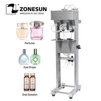 Zonesun Vacuüm Vloeistof Parfum Vulmachine Melk Water Boerenbedrog Cosmetica Drank Pneumatische Filler Fles Vulling Apparatuur