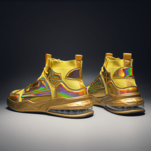 2021 new men's shoes golden cushion high-top shoes Korean trend wild future casual shoes men's tide shoes