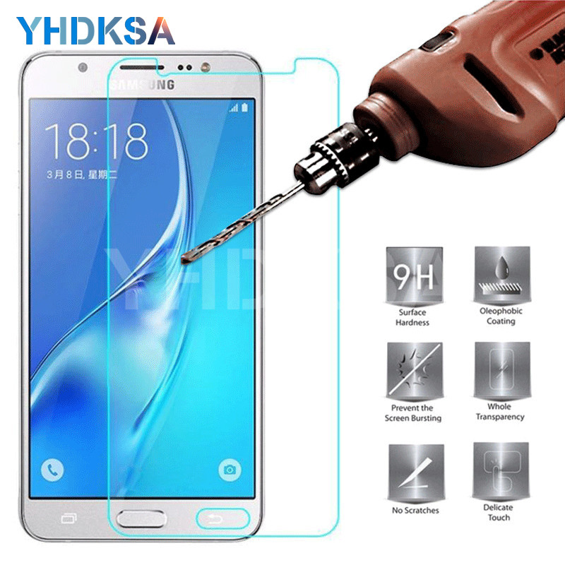 Tempered Glass on For <font><b>Samsung</b></font> Galaxy <font><b>A3</b></font> A5 A7 J3 J5 J7 2015 2016 2017 <font><b>Screen</b></font> <font><b>Protector</b></font> For <font><b>Samsung</b></font> A6 A8 A9 2018 Protective Film image