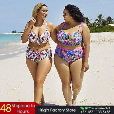 XL-5XL push up plus size women swimwear strip high waist Swimsuit female big chest Bathing Suit Biquini maillot de bain women