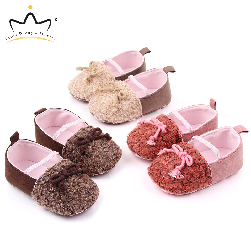 Spring Summer New Baby Girl Shoes Soft Cotton Soled Toddler Shoes For Girls Lovely Bowknot Love Heart Knitting Baby Shoes