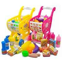 Kinder Spielzeug Warenkorb Kinder Supermarkt Warenkorb Obst Gemüse Shop Zubehör Pretend Lebensmittelgeschäft Pädagogisches Spielzeug für Kinder
