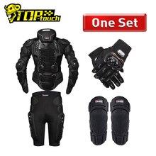HEROBIKER אופנוע שריון הגנת גוף שריון ציוד מגן מוטוקרוס Moto מעיל אופנוע מעילי עם צוואר מגן