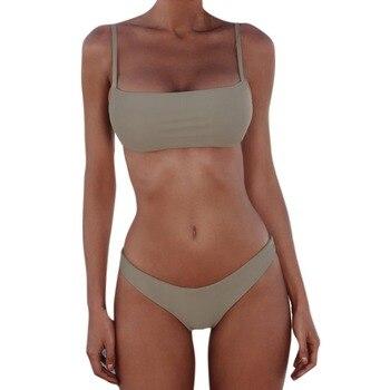 2021 New Sexy Push Up Unpadded Brazilian Bikini Set Women Vintage Swimwear Swimsuit Beach Suit Biquini bathing suits 3