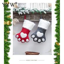 1PCS 300x450mm Creative Christmas Sock Stockings Decoration Candy Gift Bag Xmas Tree Hanging Ornaments