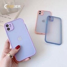 CASEIER Candy Color Phone Case For iPhone 11 XS XR 6s 7 8 Tpu Silicone Matte Cov