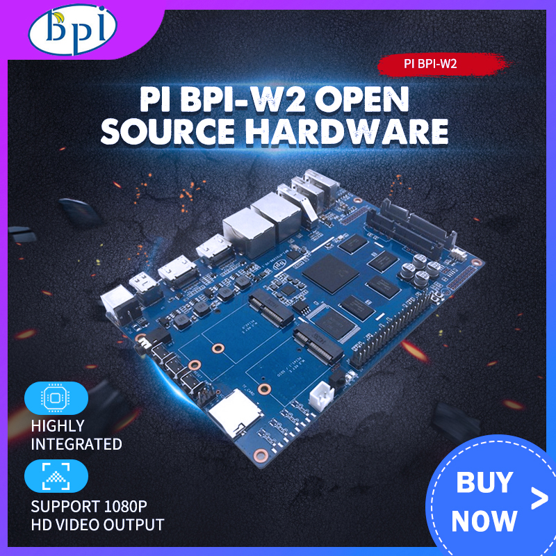 Banana Pi W2 Smart NAS Router RTD1296 Chip Design BPI-W2+12V 2A DC Power For Banana Pi W2 Used For High Wireless Performance