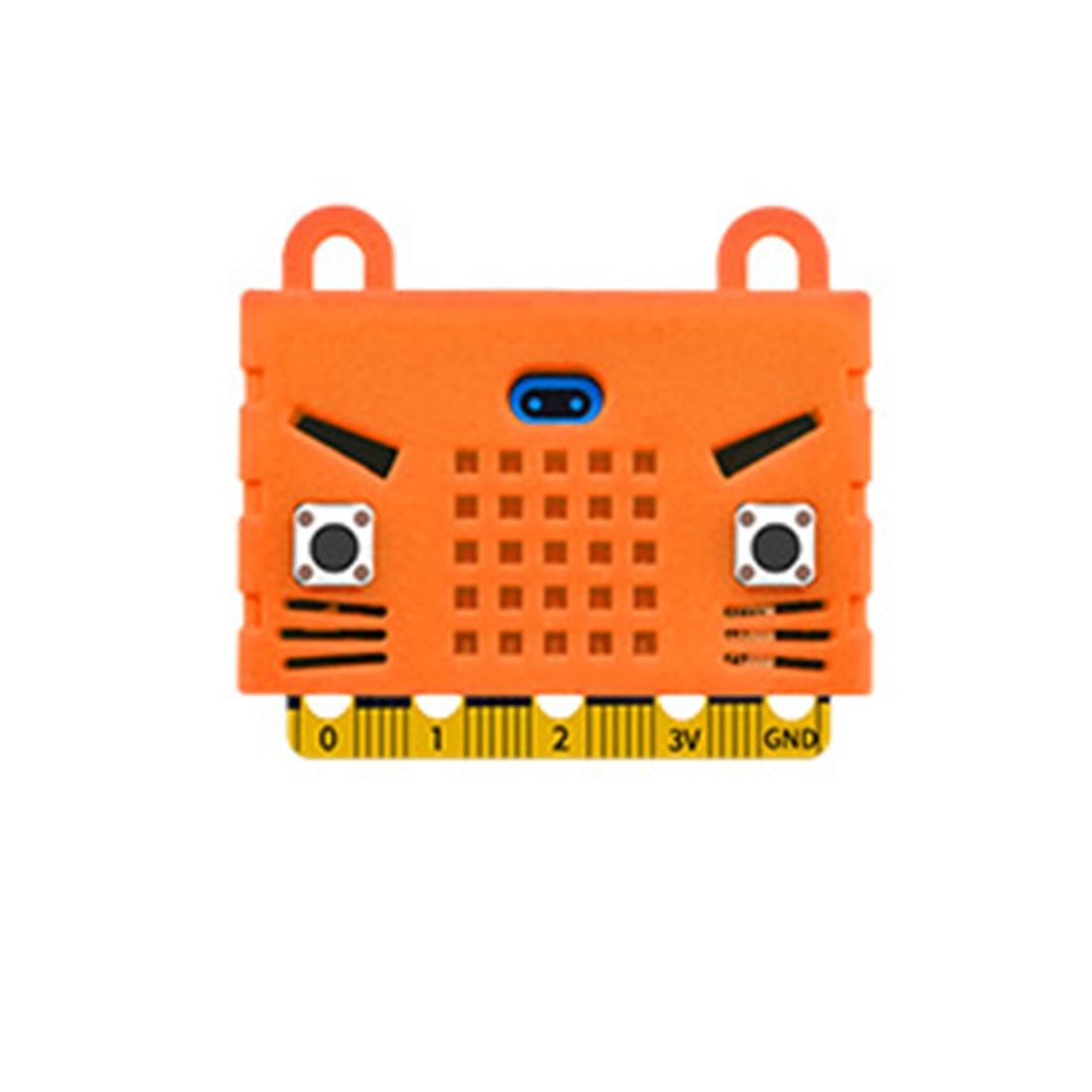 Экологичное уплотнение/тигр/в форме кота силиконовый защитный корпус Крышка корпуса для Micro: Плата расширения бита Bue/красный/оранжевый - Цвет: 5