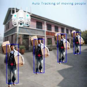 Image 3 - 1080P наружная Wi Fi камера с автоматическим отслеживанием умная беспроводная домашняя камера безопасности PTZ CCTV Аудио скоростная купольная IP камера видеонаблюдения iCSee