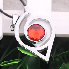 10pcs/lot New Fashion Naruto Choker Necklace Leaves Village Logo Pendant Red Crystal Men Women  Jewelry Accessories Female Gifts