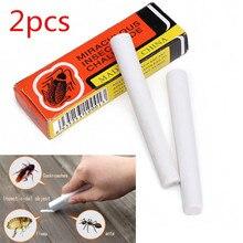 Инсектицид, 2 шт., волшебная ручка для насекомых, меловой инструмент для удаления тараканов, тараканов, муравьев, вшей, блох, Жуков, инсектицида A1119