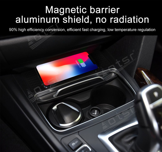 QI Wireless Charge Special On-board Charge Phone Charging Panel Android For BMW 3 4 ser 2016 - 2019 Car Pad Non-slip Accessories 4
