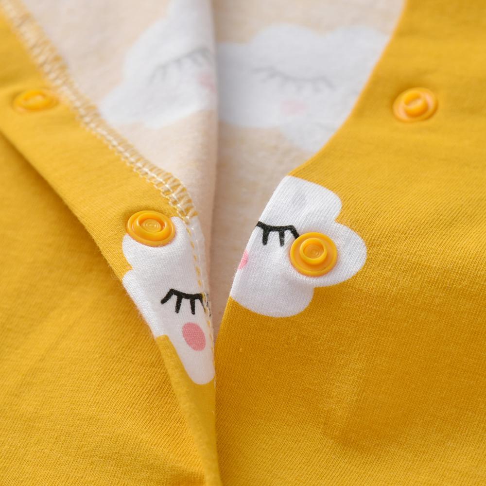 2Pcs Newborn Baby Girls Romper Cartoon Cloud Print Long Sleeve Jumpsuit+Headband Infant Girl Clothing Autumn Toddler Clothes | Happy Baby Mama