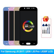 Super Amoled J5 Pro dla Samsung Galaxy J5 2017 LCD J530 J530F wyświetlacz LCD ekran dotykowy wyświetlacz Digitizer J5 Pro J530FM wyświetlacz tanie tanio MSMADE NONE CN (pochodzenie) Pojemnościowy ekran 1280x720 3 For Samsung Galaxy J5 2017 LCD LCD i ekran dotykowy Digitizer