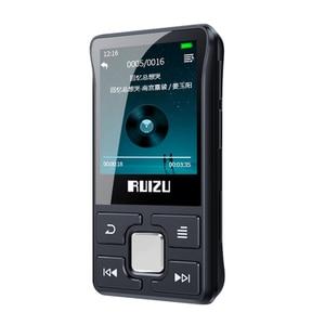 Image 1 - latest Original RUIZU X55 Sport Bluetooth MP3 Player 8gb Clip Mini with Screen Support FM,Recording,E Book,Clock,Pedometer