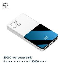 Banco de potência 20000 mah poverbank carregamento portátil carregador de bateria externa do telefone móvel powerbank 20000 mah para xiao mi