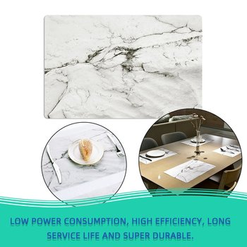 2PCS/SET Fashion Marble Patte PVC Dining Table Placemat Europe Style Kitchen Tool Tableware Pad Coaster Coffee Tea Place Mat image