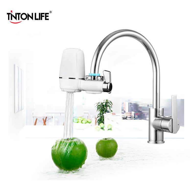 المطبخ الحنفيات طرف مرشح تصفية المياه المنزلية منقي مياه قابل للغسل فلتر السيراميك تنقية المياه المصغرة