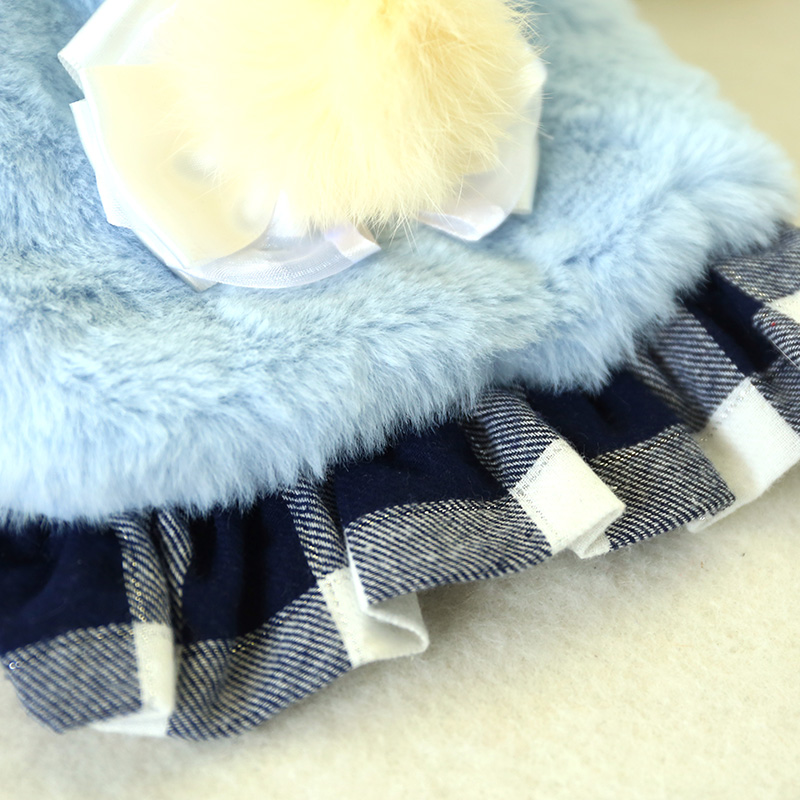 2019 Pet Dog Clothes Winter Warm Jacket Cute Warm Plaid Skirt Pendulum Blue Coat Puppy Chihuahua Clothing For Small Dogs Costume in Dog Coats Jackets from Home Garden
