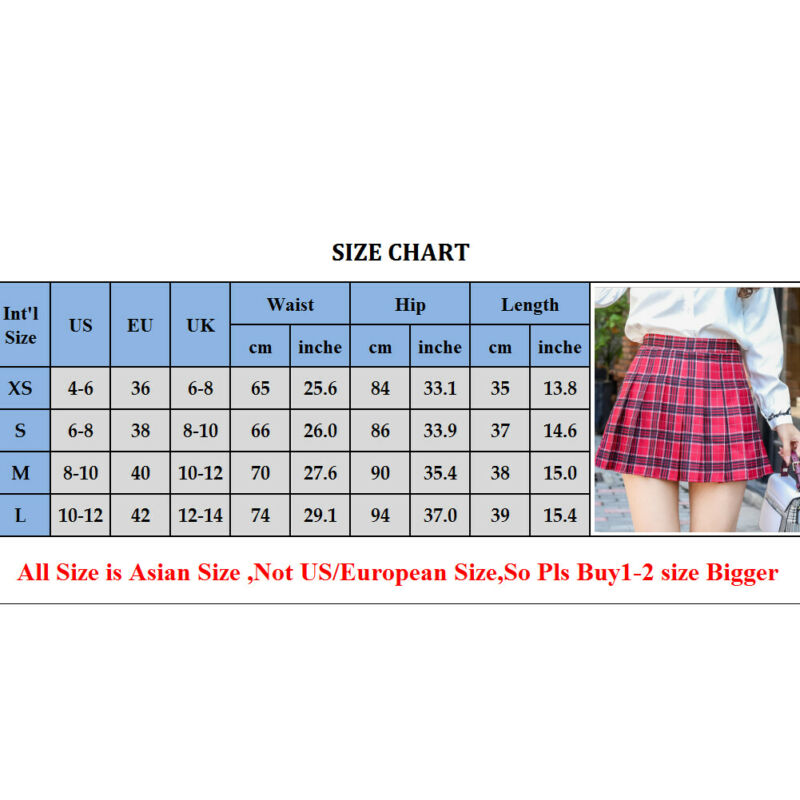 Mini skirts size 33 Women Skirts High Waist Pleated Skirt School Girl Plaid A Line Flare Skater Short Mini Skirt By Skirts Aliexpress