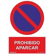 Señal prohibido aparcar aluminio 40x30 cm Rojo