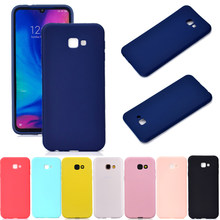 Candy Color Silicon Case on for Samsung Galaxy J6 J4 Plus 2018 J3 J5 J7 2017 2016 J330 J530 J730 J 6 4 Slim Soft TPU Back Cover(China)