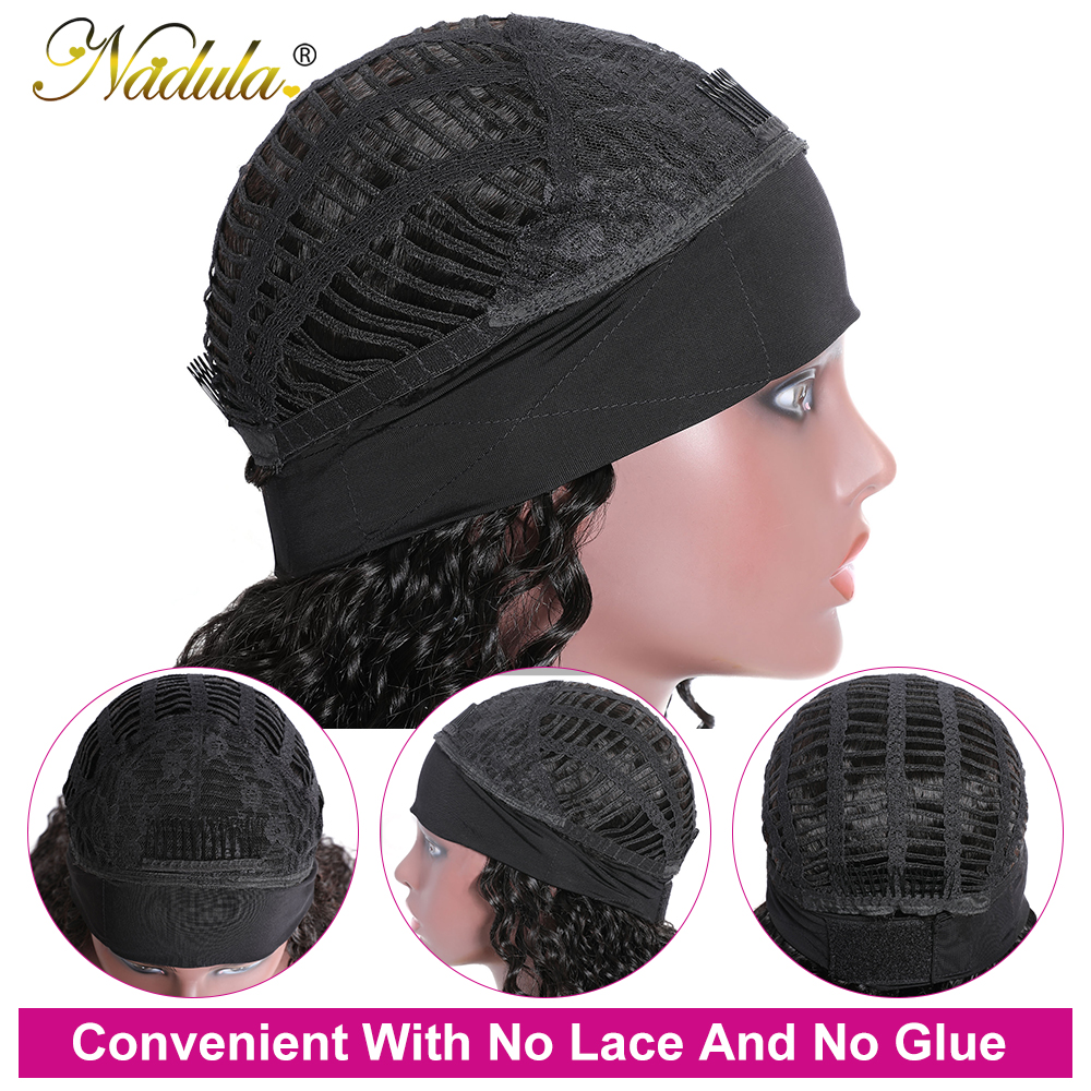 Perfect Fit Culry Hair Headband Wigs for Black Women 150% Density Super Natural Half Wig Curly  Wig Nadula Product 2