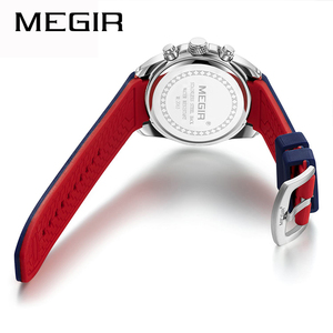 Image 3 - Top Luxury Brand MEGIR Men Sports Watches Mens Quartz Military Analog Clock Man Fashion Rubber Strap Waterproof Wrist Watch