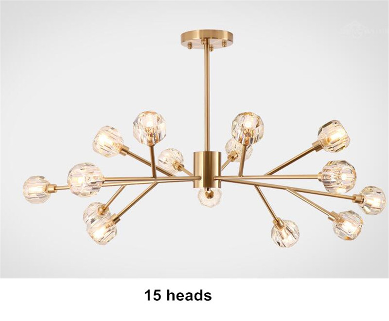H523662f8006f417aaa1f9f578c770966d Flush Mount Ceiling Light | Ceiling Lamp | New crystal ball ceiling Lighting Gold branch design lustres ceiling lamp for living dining room cristal lighting fixtures Voltage 85-265V