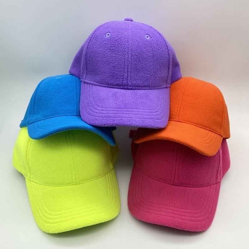Kids Winter Hat Cute Warm Fleece Plush Baseball Cap for Boys Girls Multicolor Hats Accessories|Men
