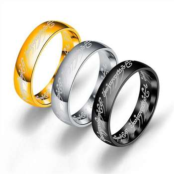 Women Jewelry Titanium Steel Ring Simple Mirror Polished Magic couple Rings sd003 image