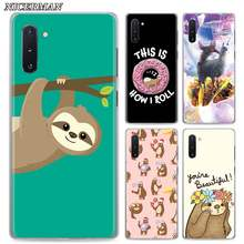 Phone Case for Samsung Galaxy Note 8 9 10+ 10 Plus S10 S20 A50 A70 51 A71 5G Cover Cute Sloth donut Cases Shell(China)