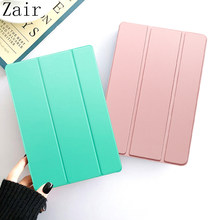 Tri-fold PU Leather Case For Samsung Galaxy Tab A 8 2019 SM-T290 SM-T295 SM-T297 WI-FI LTE 8.0'' Flip Solid Colour Tablet Cover(China)