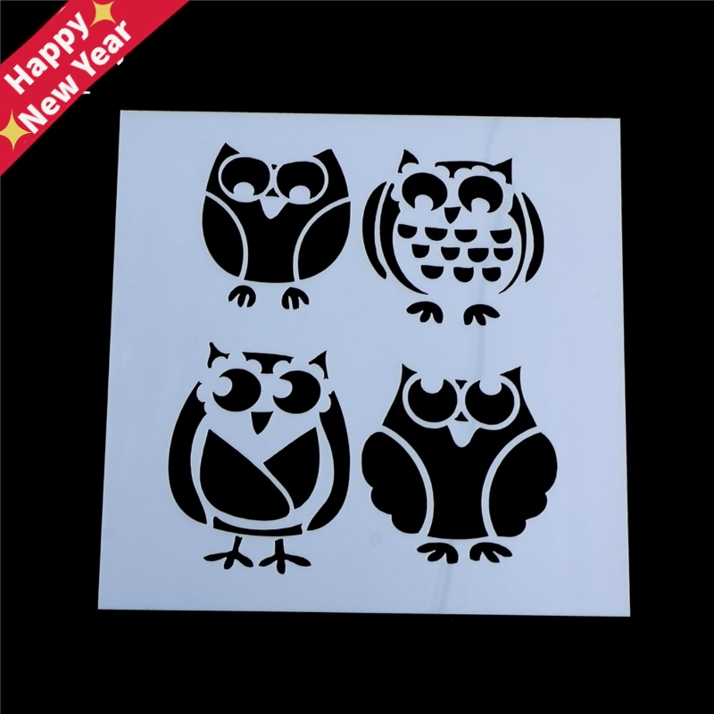 Owls Stencils For Wall Painting Scrapbooking Album Decorative Paper Cards