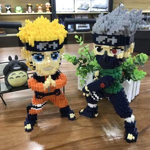Image 5 - Balody Mini bloques de construcción de Naruto para niños, figuras de acción de dibujos animados, bloques de construcción para Juguetes Divertidos para niños, regalo de Navidad Kakashi 16093