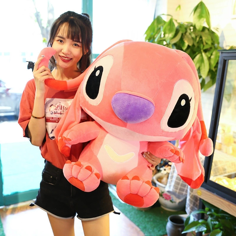 80cm Giant Cartoon Stitch Lilo & Stitch Plush Toy Doll Children Stuffed Toy For Baby Birthday Christmas Children Kid Gifts - 6