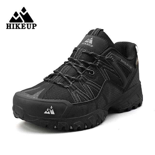 HIKEUP 2020 Summer Men Hiking Shoes Mesh Fabric Mountain Climbing Shoes Outdoor Trekking Sneakers Fishing Hunting Boots For Men 5