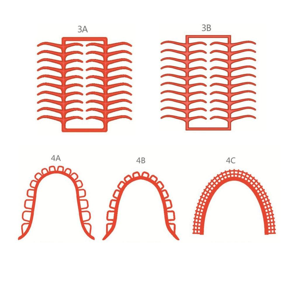 3Boxes Dental Lab Wax Casting Wax Net Assorted Shapes Moral Clasp Bonyhard Clasps Retention Mesh Honeycom Grid Mesh